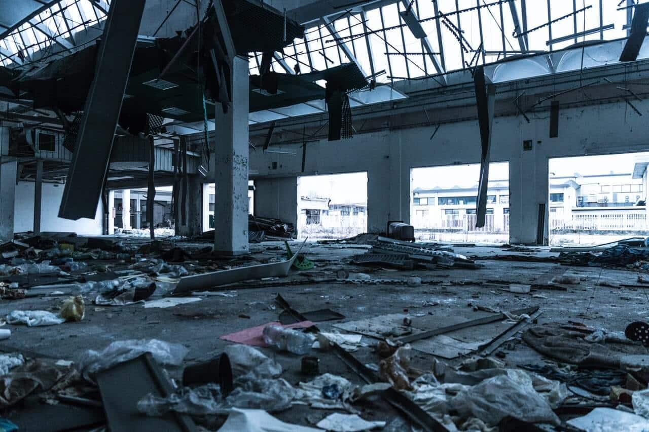 Insurance Adjuster damaged building