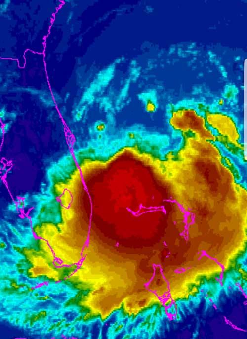 Hurricane Radar Map Image