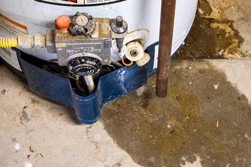 Water-Heater-leaking-water-on-floor